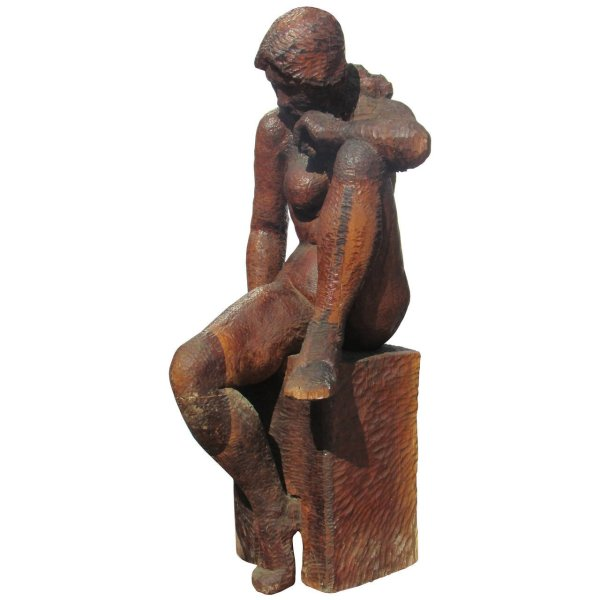 Life Size Female Carved Nude Statue