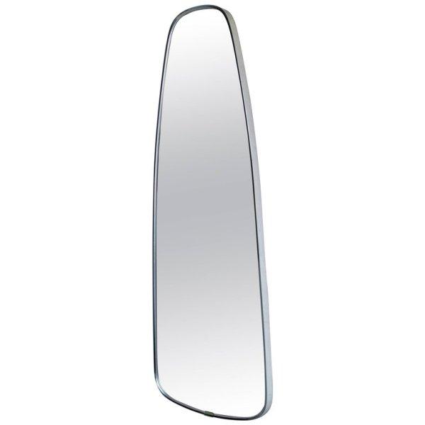 Modernist Oblong Brass Mirror