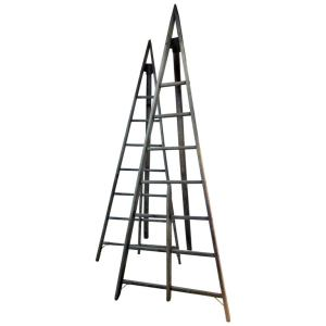 Antique American Peak Top A Frame Orchard Ladders