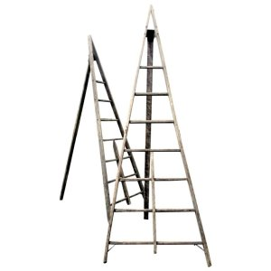 Antique American Peak Top Orchard Ladders