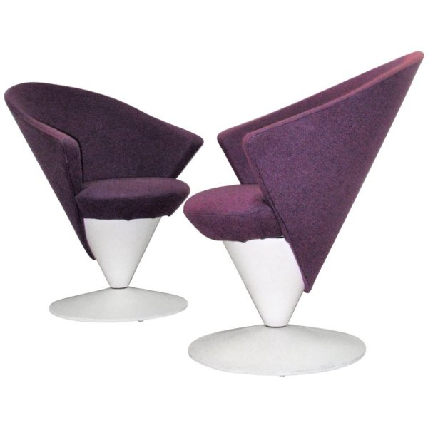 Pop Art Swivel Chairs by Adrian Pearsall