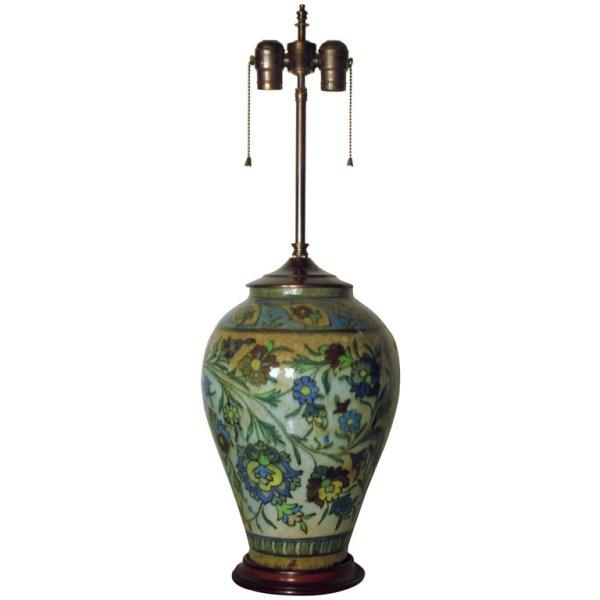Antique Persian Ceramic Lamp