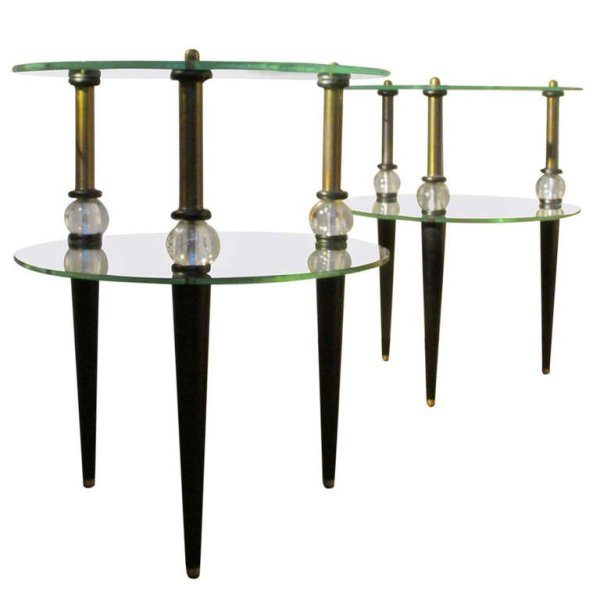 Art Moderne Tables style of Gilbert Rohde
