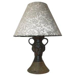 Jean Cocteau style Satyr Lamp Fortuny Shade