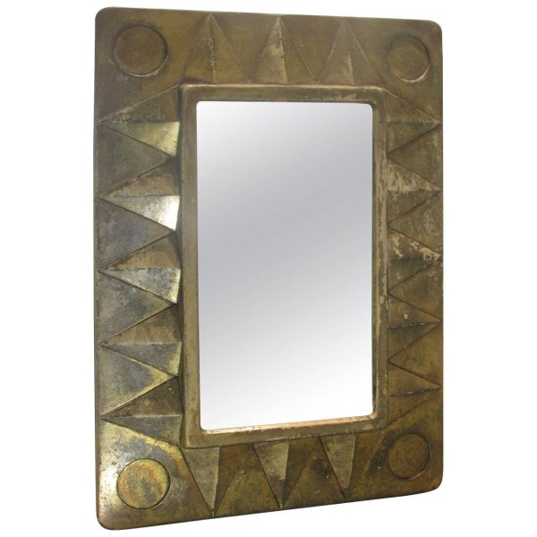 Silver Leaf Resin Mirror style of Line Vautrin