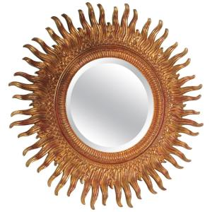 Gilded Sunburst Mirror by Labarge