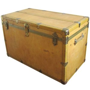 Faux Vellum Steamer Trunk