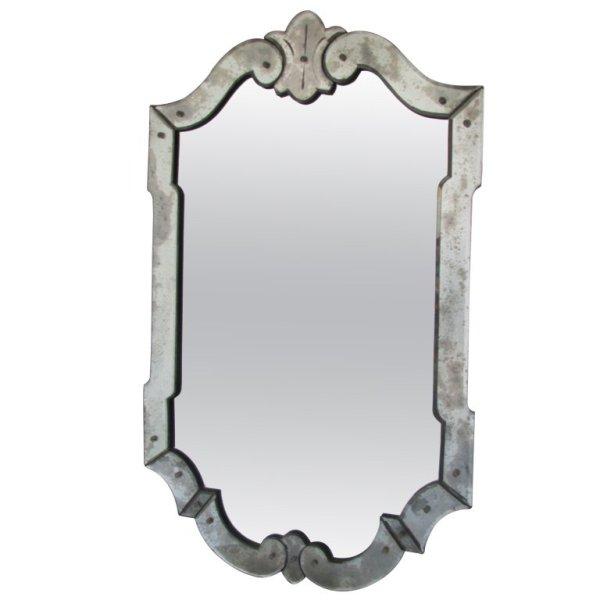 Scallop Form Venetian Glass Mirror