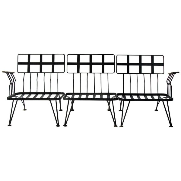 Modernist Wrought Iron Sectional by Woodard