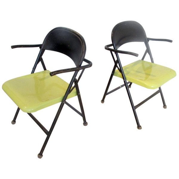 1950's Grasshopper Form Folding Chairs
