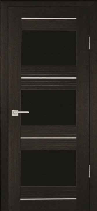Межкомнатная дверь PROFILO PORTE PSS-11, Мокко со стеклом Черный лакобель