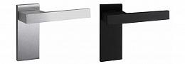 Дверная ручка на планке 360PL, черный матовый/хром матовый