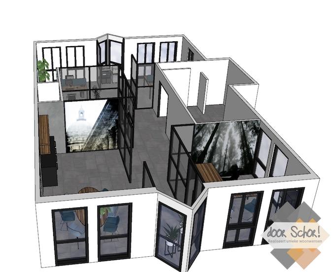 3D kantoorontwerp van Maet Advocaten in Zeewolde