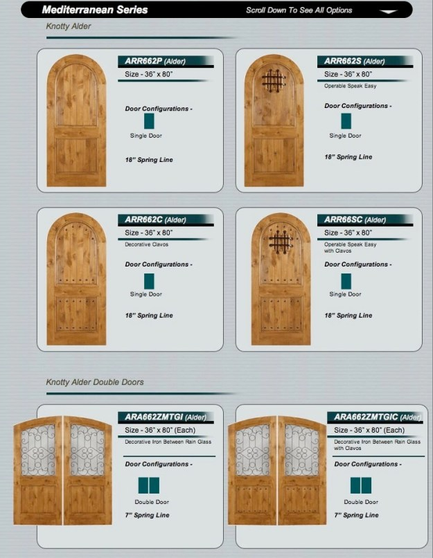Knotty Alder Western Doors