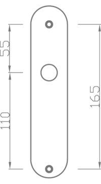plaque a entraxe 165 mm doortools