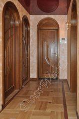 Двери арочные из массива дуба