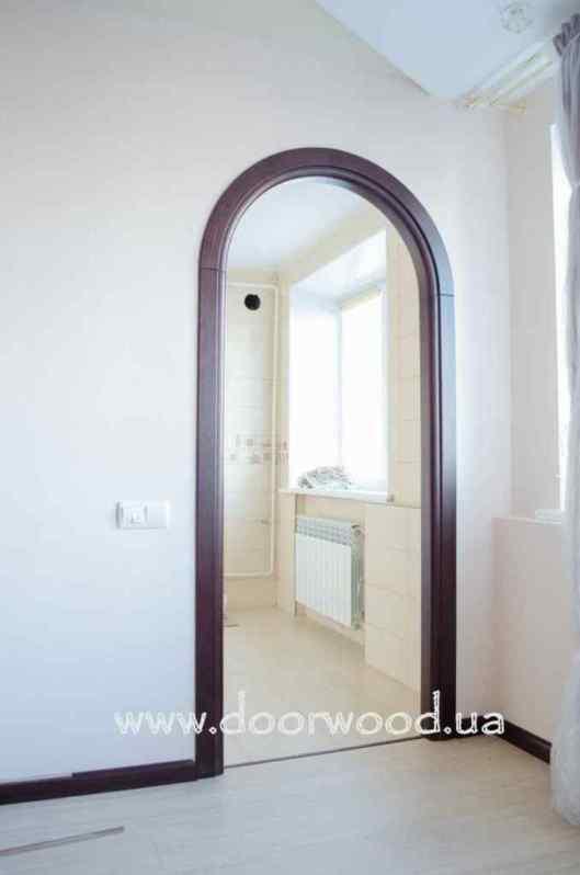Arched aper, wooden arch, ash arch, doorwood kharkiv