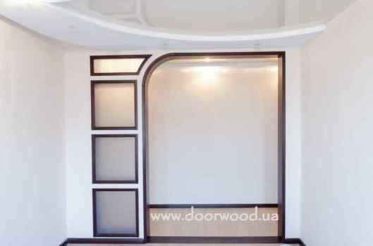 Door arch windows inter-room partition