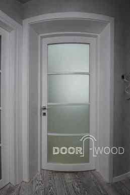 Вид на радиусные двери изнутри короба