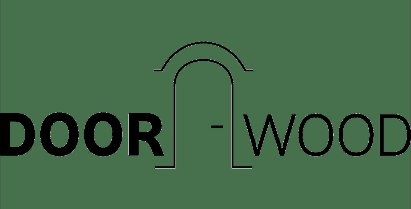 doorwood лого черный на порозрачном