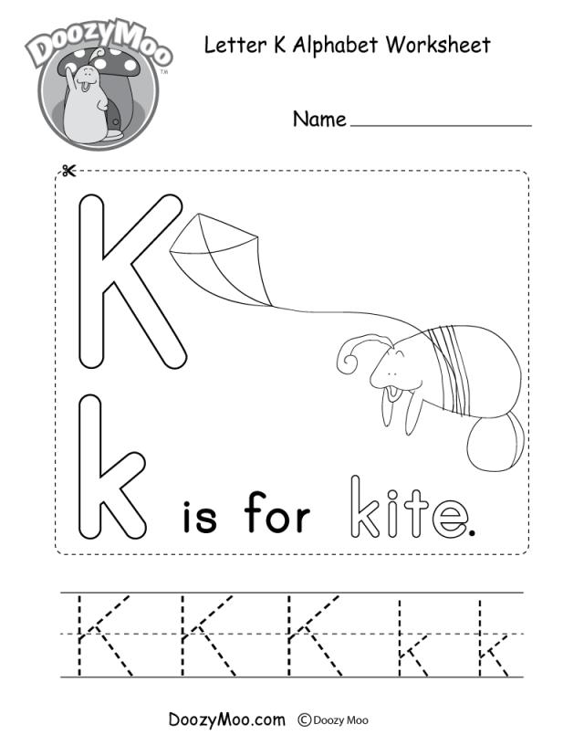 Letter K Alphabet Activity Worksheet