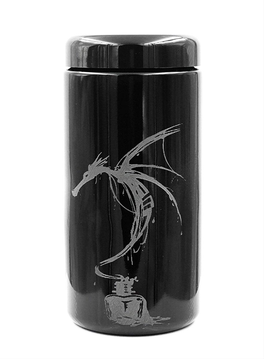 Dope Jars® 1 Liter - Deep Etched Design: Ink Dragon