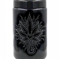 Dope Jars® - 400 ml Deep Etched Heart Leaf Design by Darby Krow