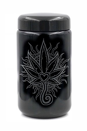 400 ml Deep Etched Heart Leaf Design by Darby Krow