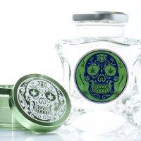 Dope Jars® + Herb Grinder Combo Pack - Green Skull