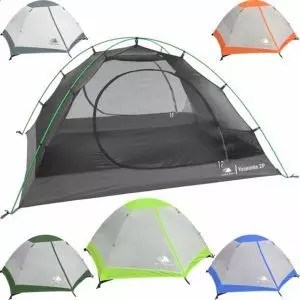 Hyke & Byke Yosemite Two Person Backpacking Tent with Footprint - Lightweight, Spacious Interior, Easy to Set Up, Compact, and Durable Design