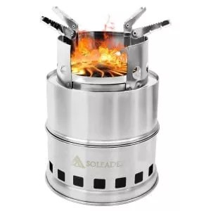 SOLEADER Backpacking Wood Burning Stove Set