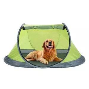 Winterial Outdoor Pop-Up Pet Tent with 2-Inch Foam Pad
