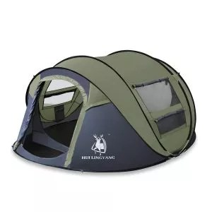 ADIPIN Instant Pop Up Outdoor Tent with Sky-window