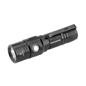 Rechargeable Flashlight,Soonfire E07 USB Waterproof 1000 Lumen Compact EDC Flashlight with type 18650 3400mAh rechargeable Li-ion battery