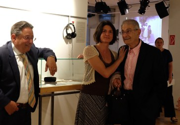 Ronny Scherr with Carrie Paterson and Charles Paterson. Photo Philipp Heinz.
