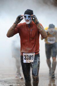 Sportler Triathlet Marathon Läufer Mann