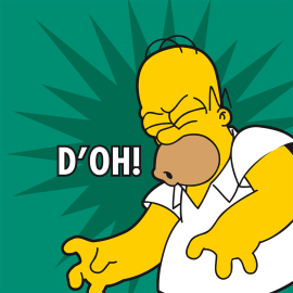 Homer Simpson che dice d'oh!
