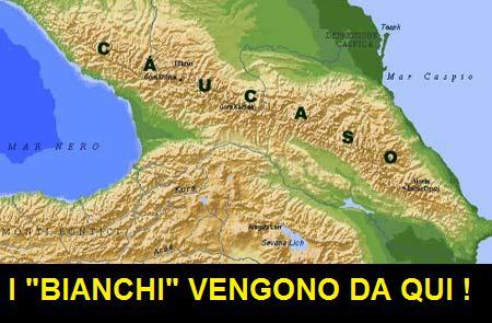 mappa del Caucaso, ironica sui maschi bianchi tradotti come maschi caucasici