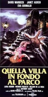 Locandina del film Quella villa in fondo al parco, nella quale compare la casa di Psycho
