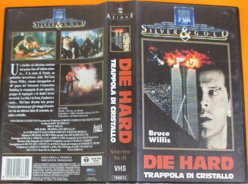 Copertina VHS del film Die Hard Trappola di cristallo