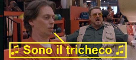 Donny interpretato da Steve Buscemi che canta: sono il tricheco, nel film Il grande Lebowski