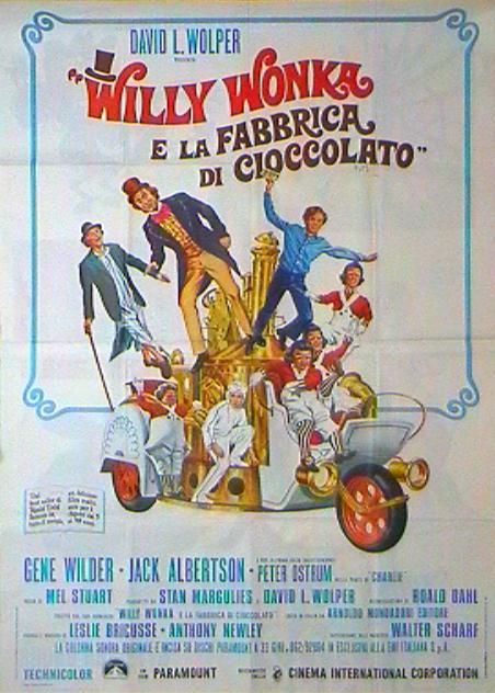 Locandina italiana di Willy Wonka e la fabbrica di cioccolato (1971)