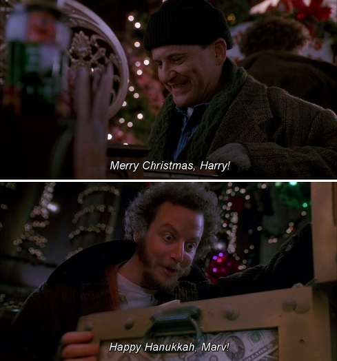 Merry Christmas, Harry. Happy Hanukkah, Marv! Home alone 2