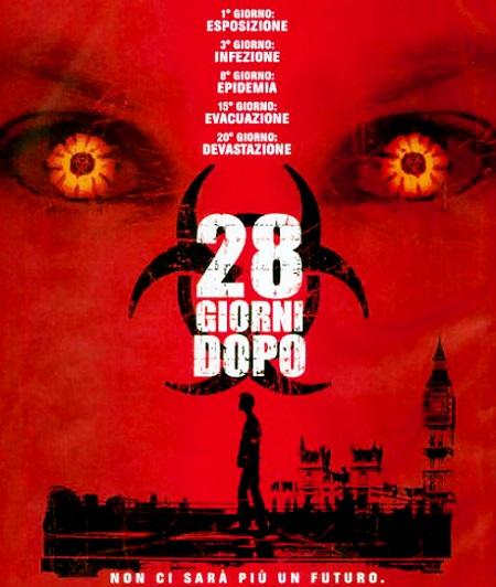 Locandina italiana di 28 giorni dopo di Danny Boyle