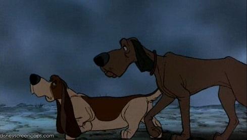 Cani Lafayette e Napoleone dal film Gli Aristogatti