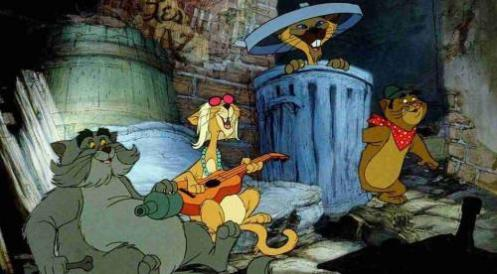 La banda di Scat Cat dal film Gli Aristogatti