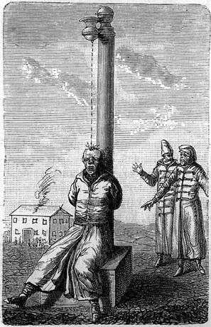 Raffigurazione della tortura della goccia