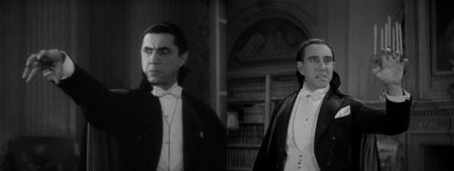 Due scene a confronto di Dracula (1931) nella sua versione americana con Bela Lugosi e la versione in spagnolo