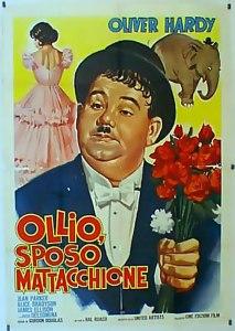 Locandina italiana del film Zenobia (1939), intitolato in italiano come Ollio sposo mattacchione