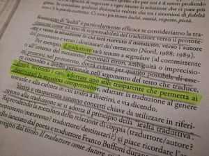 """Dal libro """"Tradurre: una prospettiva interculturale"""" di Pierangela Diadori."""